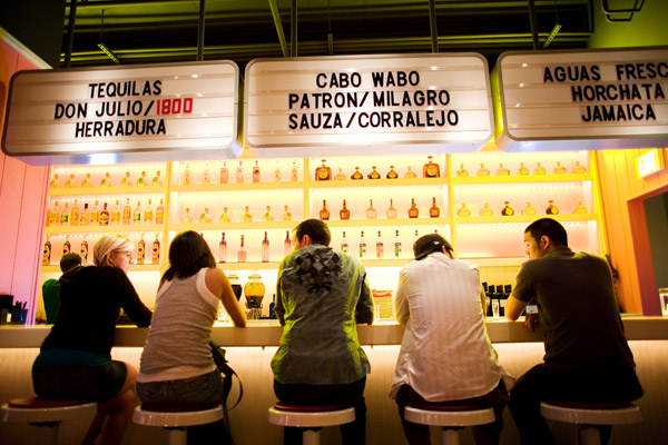 The bar at Distrito.